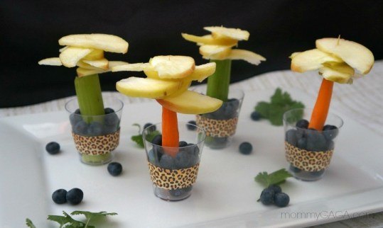 Safari Party Ideas, Fruit and Vegetable Jungle Trees