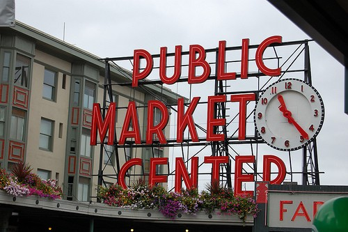 Seattle Pikes Place Farmers Market, Flickr, Colure