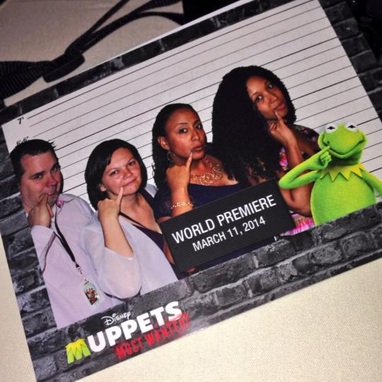 Bloggers in the photo booth at Muppets Most Wanted premiere Event after party