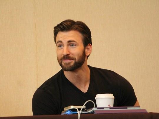 Chris Evans, Captain America Press Junket, March 2014 in Los Angeles, CA
