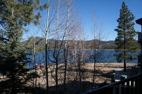 Vew of Big Bear Lake from Lagonita Lodge Hotel