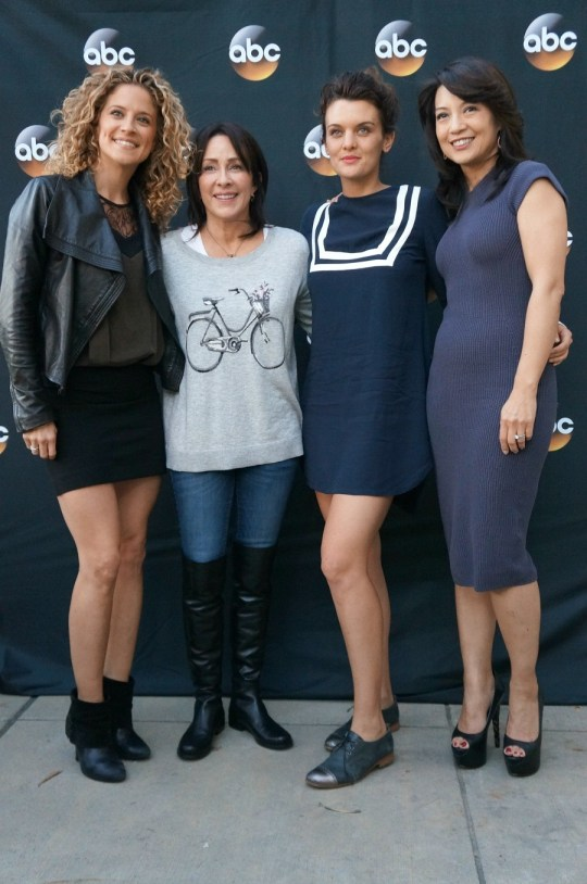 ABC Moms Alexis Carra, Patricia Heaton, Frankie Shaw, and Ming-Na Wen