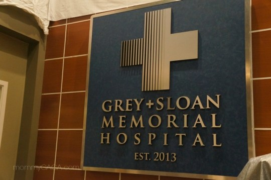 Grey Sloan Memorial Hospital Sign on Greys Anatomy Set