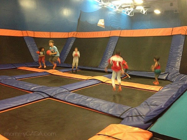Dodgeball courts at Sky Zone, San Diego