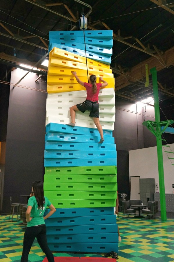 Climbing twister wall, Jump Around Now Adventure Park