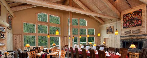 Inside the Steamboat Bay Fishing Lodge, Noyes Island, Alaska