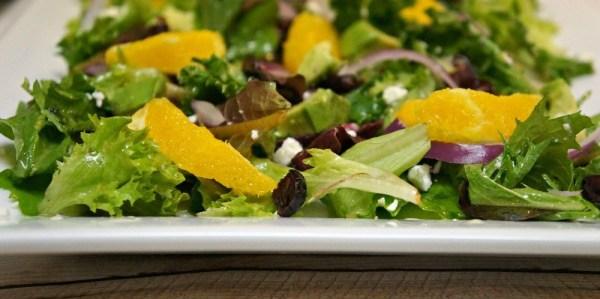 Cranberry citrus salad, orange vinaigrette