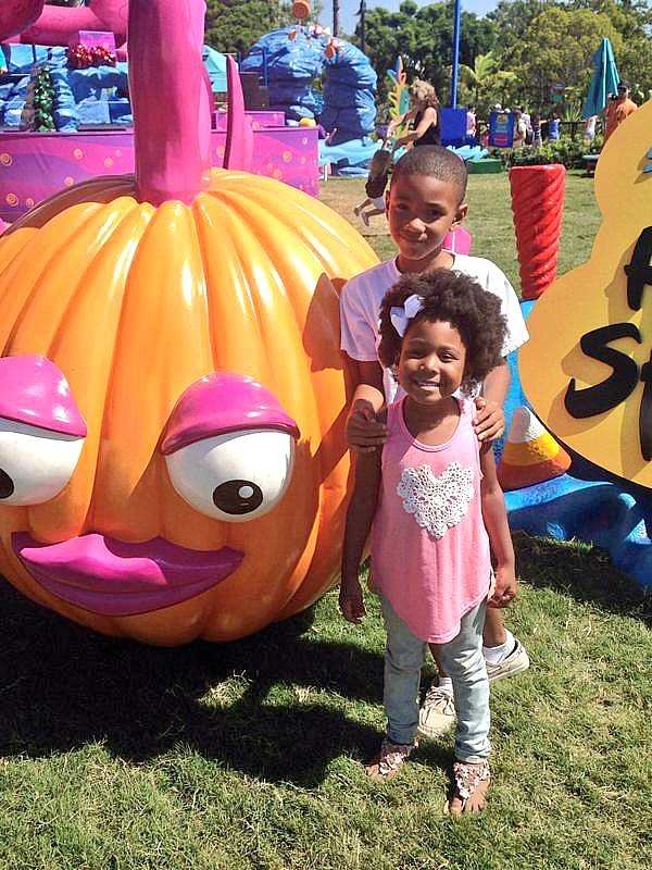 Kids enjoying the Halloween Spooktacular at Sea World San Diego