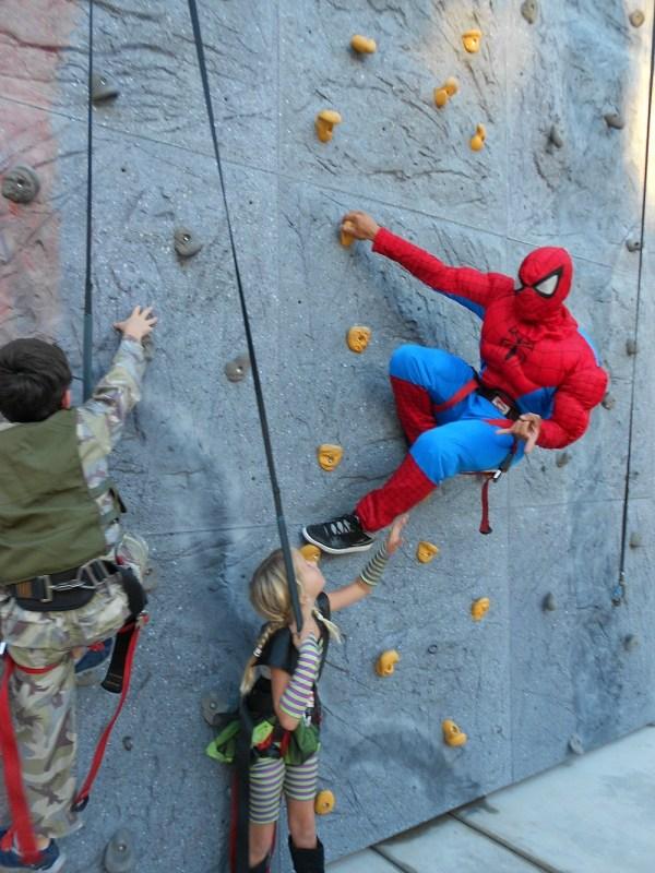 Rock climbing at Boomont Park, Belmont Park