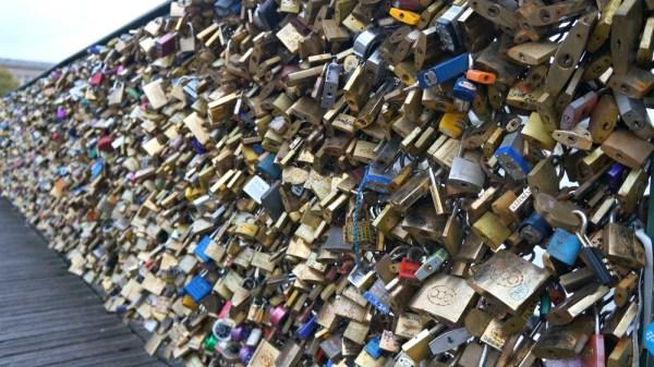 Locks on Pont de Arts bridge, Paris, France
