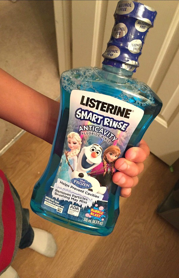 LISTERINE Smart Rinse Anti cavity flouride for Kids