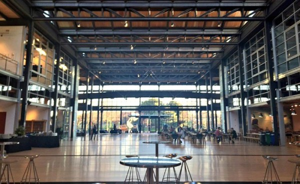 Inside Pixar Animation Studios in California, gorgeous high ceilings