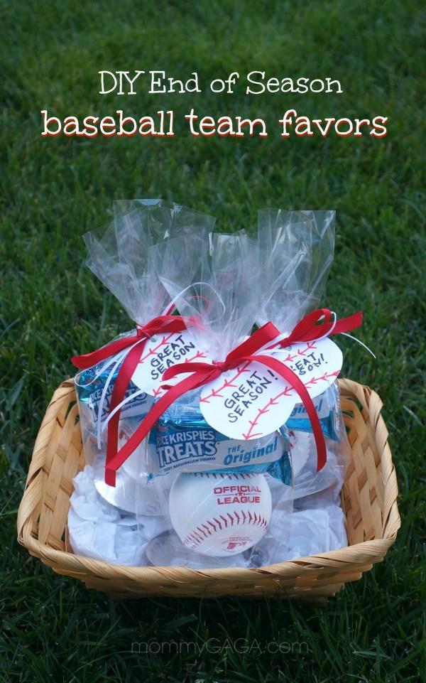 Easy DIY Little League Baseball Season Favors for kids