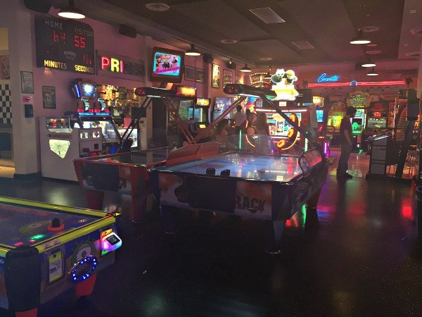 Gamers garage Arcade and Game room at Corvette Diner