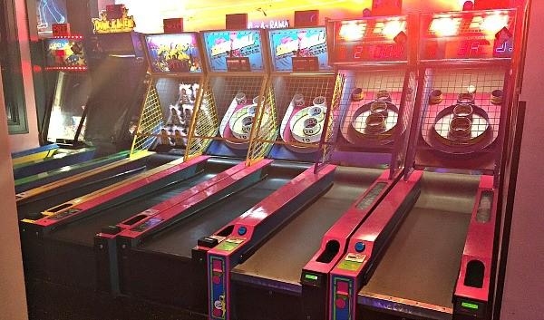 Skee Ball games at the Gamers garage Arcade, Corvette Diner
