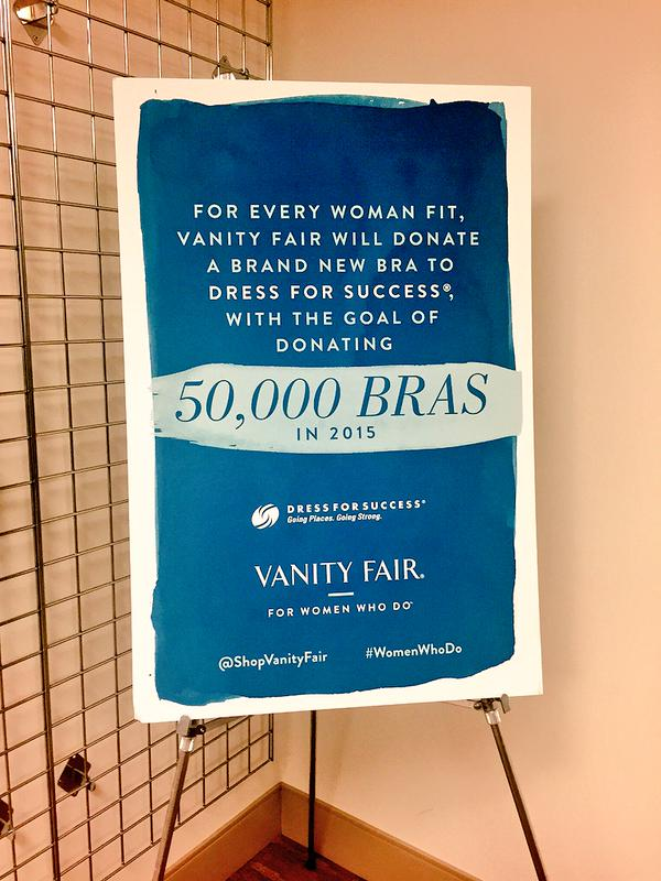 Vanity Fair will donate 50,000 bras to Dress for Success in 2015