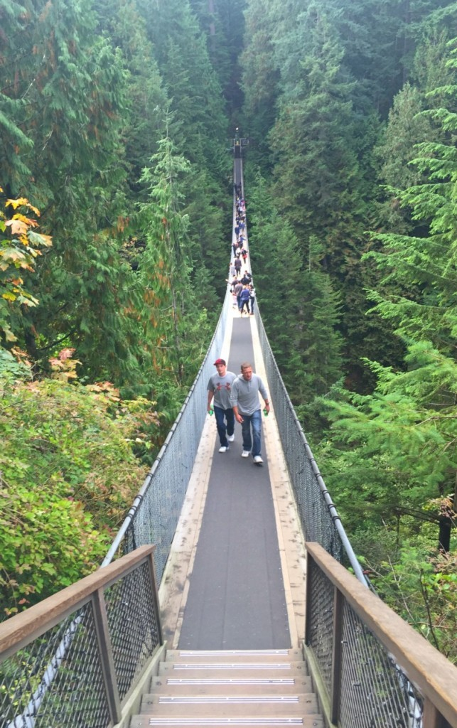 Interesting things I saw in Vancouver BC, Canada, Capilano Suspension Bridge