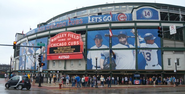Outside of Wrigley Field, Home of the Chicago Cubs