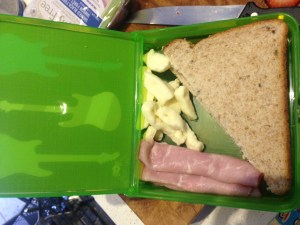 Itzy Ritzy Lunch Happens Bento Lunch Box - top lid open