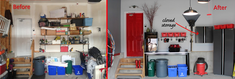 The Home Depot ultimate garage makeover before & after - with Kismet Interior Design