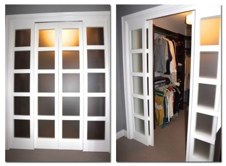 Milette panel doors create faux pocket door