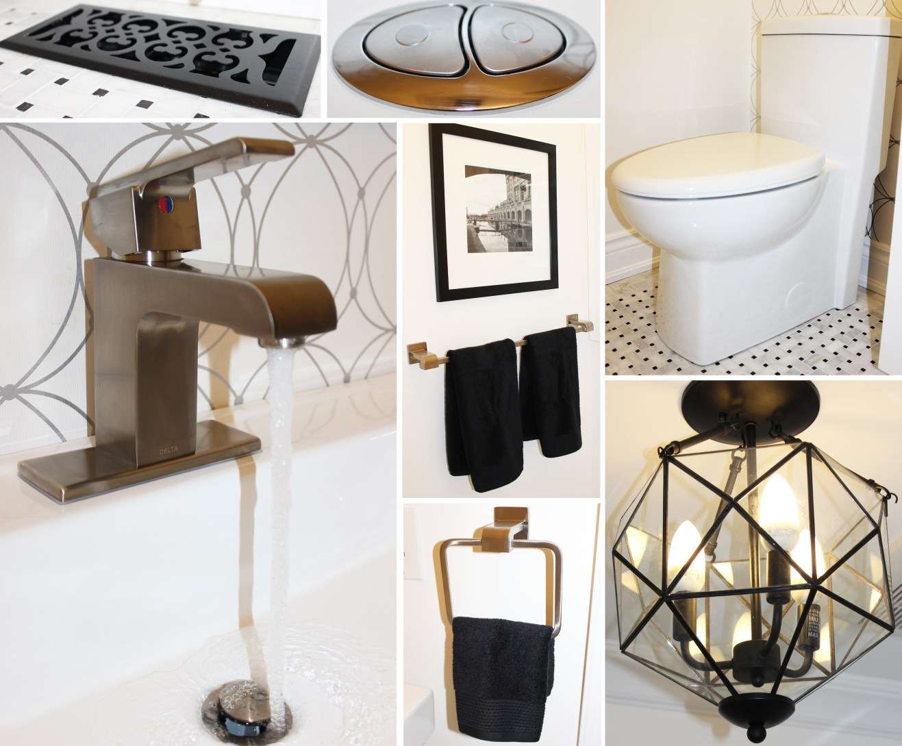 Powder room facelift details