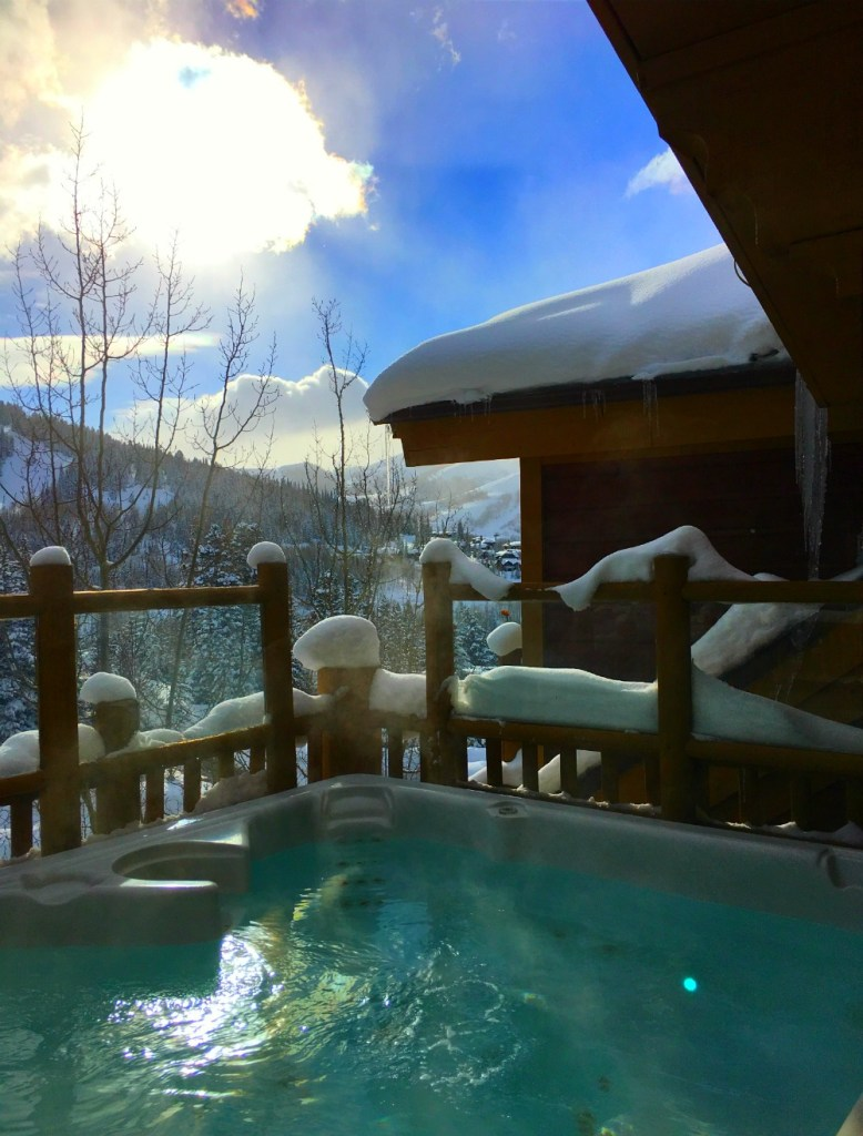 hot tub apres ski in deer valley
