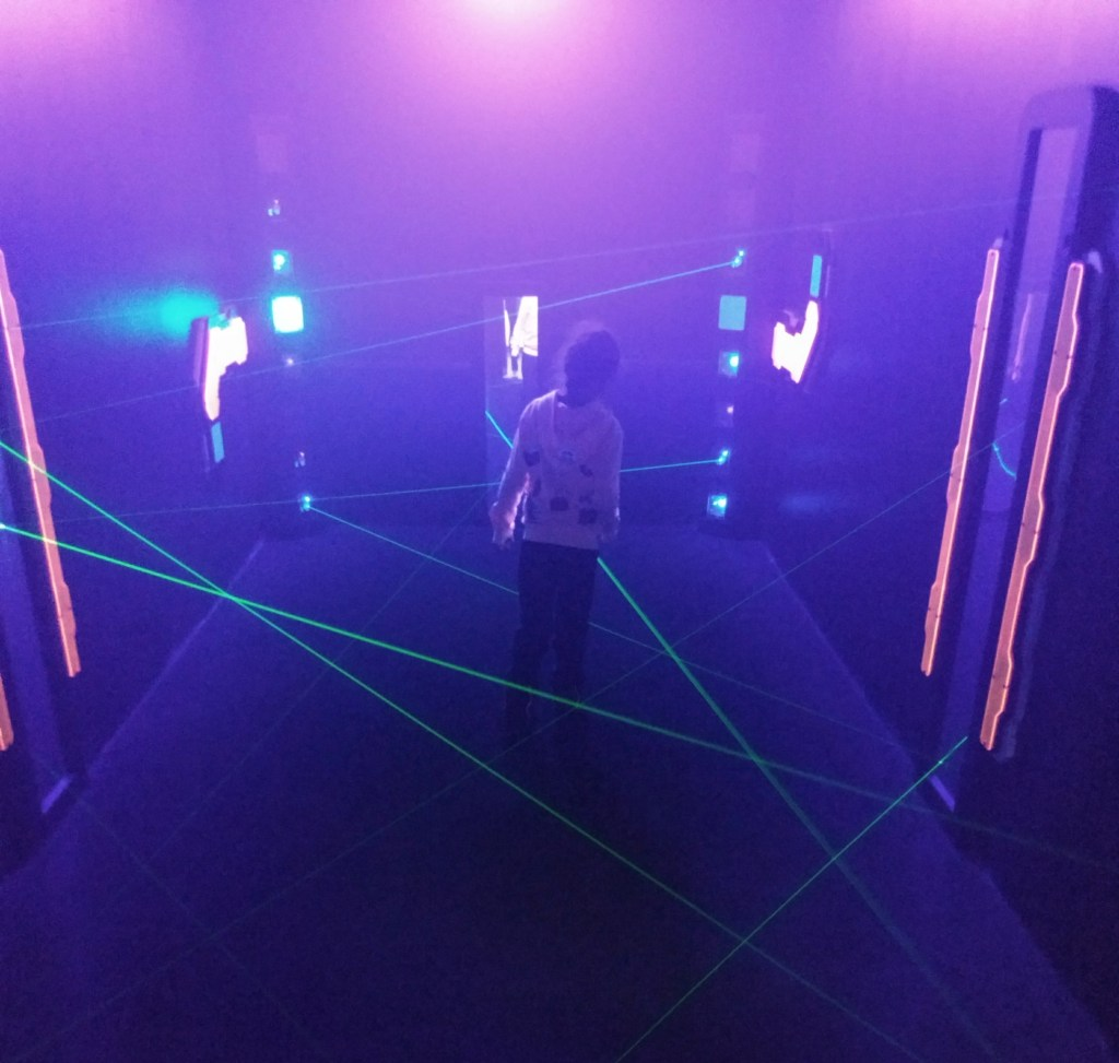 Laser maze at Smuggs