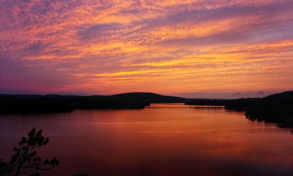 algonquin park sunsets