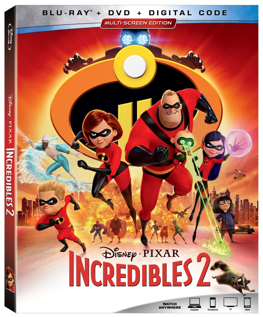 incredibles 2 movie dvd