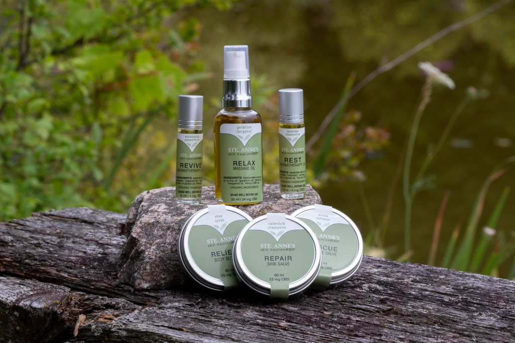 ste anne's spa cbd oil collection