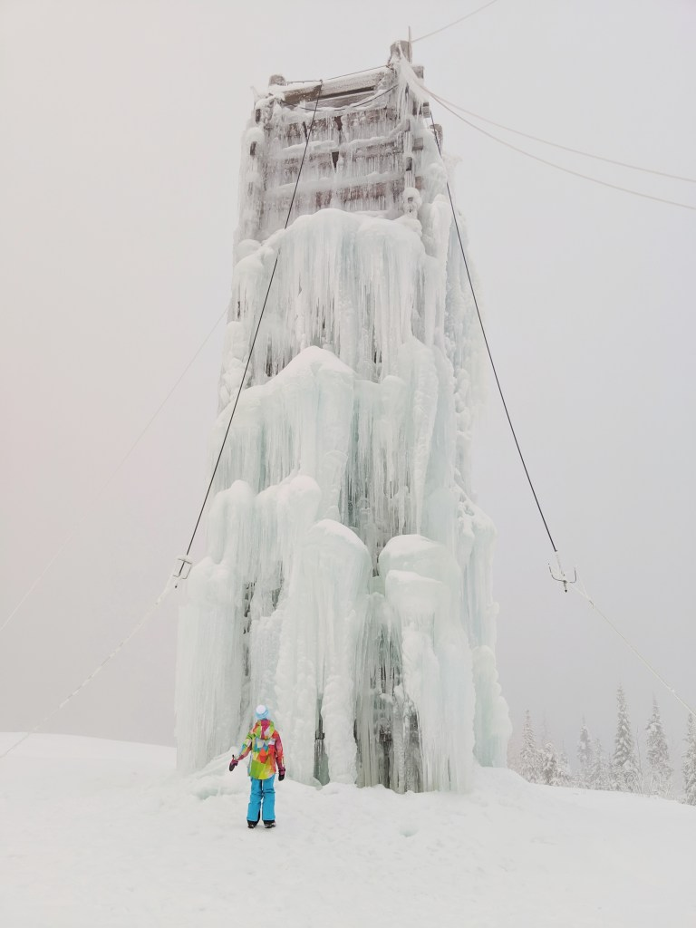 ice climbing at big white ski resort