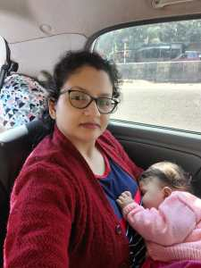 Roads trips with a baby in India