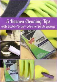 Kitchen Cleaning with Scotch-Brite Extreme Scrub Sponge ...