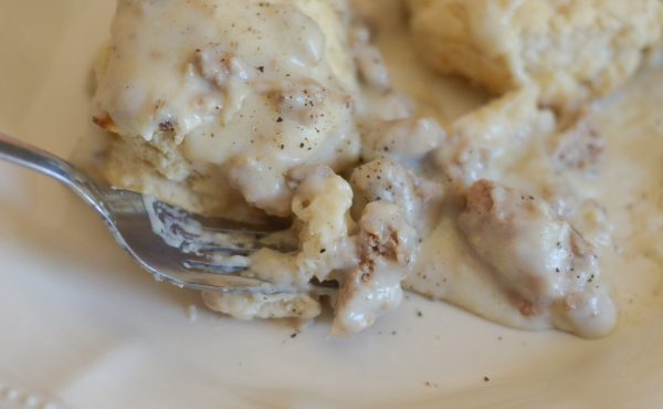 Turkey Gravy Over Biscuits
