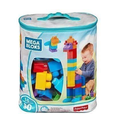 Mega Bloks 80-Piece Big Building Bag