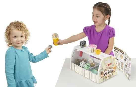Melissa & Doug Wooden Scoop and Serve Ice Cream Counter