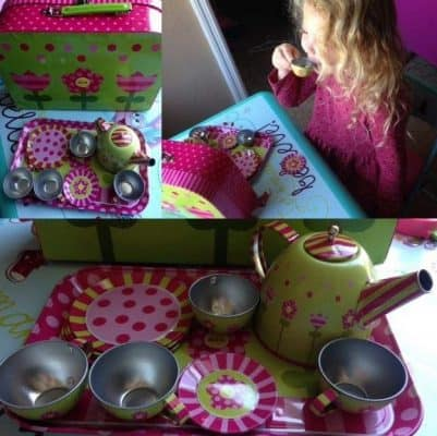 ALEX Pretend Tin Tea Set