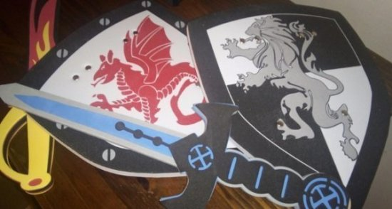 Liberty Imports Foam Sword and Shield 2 Pack