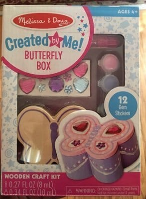 Melissa & Doug Decorate-Your-Own Wooden Heart Box and Wooden Butterfly