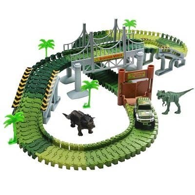 Lydaz 142- piece Dinosaur World Race Track