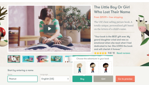 Book Review and Gift Suggestion: One of a kind personalized story book, The Little Boy Who Lost His Name