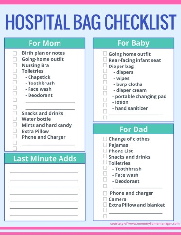 This is a graphic of Impeccable Printable Hospital Bag Checklist for Labor and Delivery