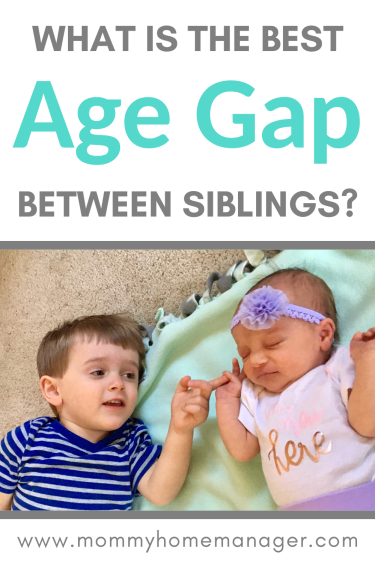 Deciding when to add another child to your family is always a big decision! So what is the best age gap between siblings? #momlife #siblings #newbaby #familyplanning