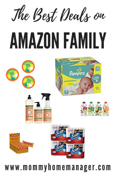 Amazon Family is a great way to save on diapers, snacks, and other household staples! The best part is that it's free with your Prime membership. #deals #dealsformom #amazonfamily #amazonprime #diapers