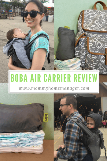The Boba Air is a great carrier choice for infants and toddlers! It's lightweight, convenient, and packs up into a small pouch. Check out my full Boba Air review for more. #babywearing #babycarrier #toddlerwearing