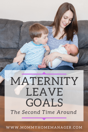 Setting goals for maternity leave can help you to feel better mentally, physically, and emotionally! Enjoy your time at home while preparing to go back to work. #newmom #workingmom #maternityleave #newbaby