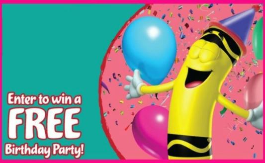 giveaway win a free birthday party at crayola experience in easton