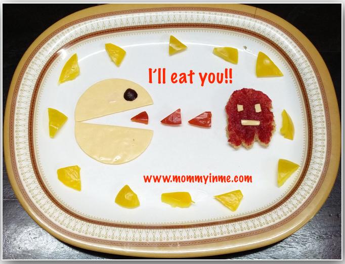 Food art : Easy way to let kids eat nutritional food - Pac Man