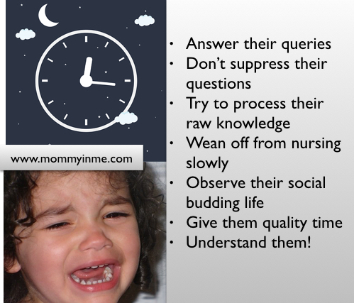 Why does my child cries in the middle of the night? Are you facing mid night waking and screaming of your child? Then read the possible reasons and tips to help toddlers come out of the possible nightmares, as an experienced mama says. #nightmares #nightterrors #cryingchild #midnightcries